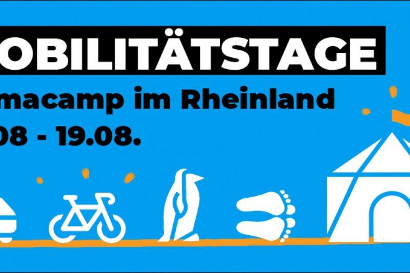 Programm für die Mobilitätstage auf dem Klimacamp im Rheinland ist online!