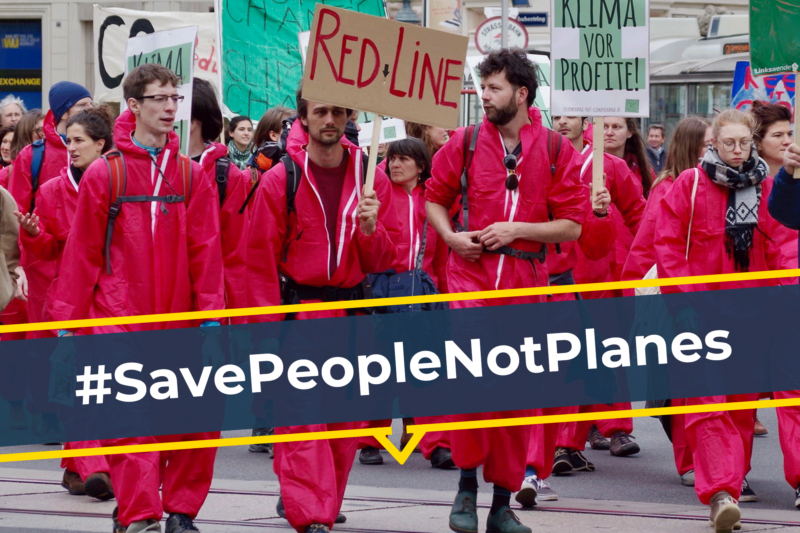 #SavePeopleNotPlanes: Keine Milliardenhilfen für die Flugindustrie
