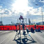 Heutige Blockade eines Abschiebeflugs in Wien